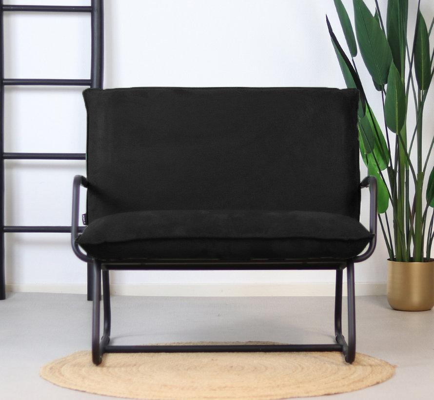 Lounge Sessel Ohio schwarz Polyester