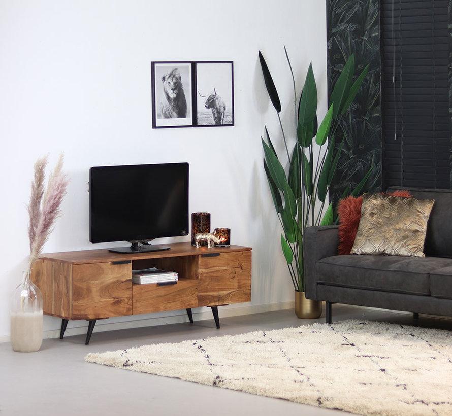 TV-Lowboard Robinia Akazie 135 cm