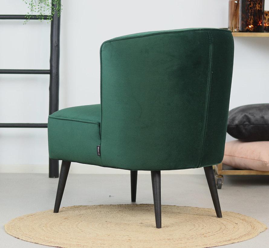 Samt Sessel Lyla modern grün
