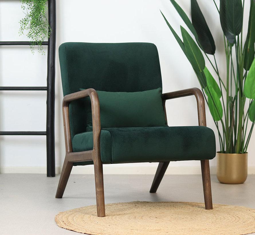 Samt Sessel Bibi grün mit Armlehne