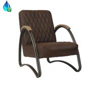 Bronx71 Ledersessel Ivy Industrial Design Eco-Leder braun