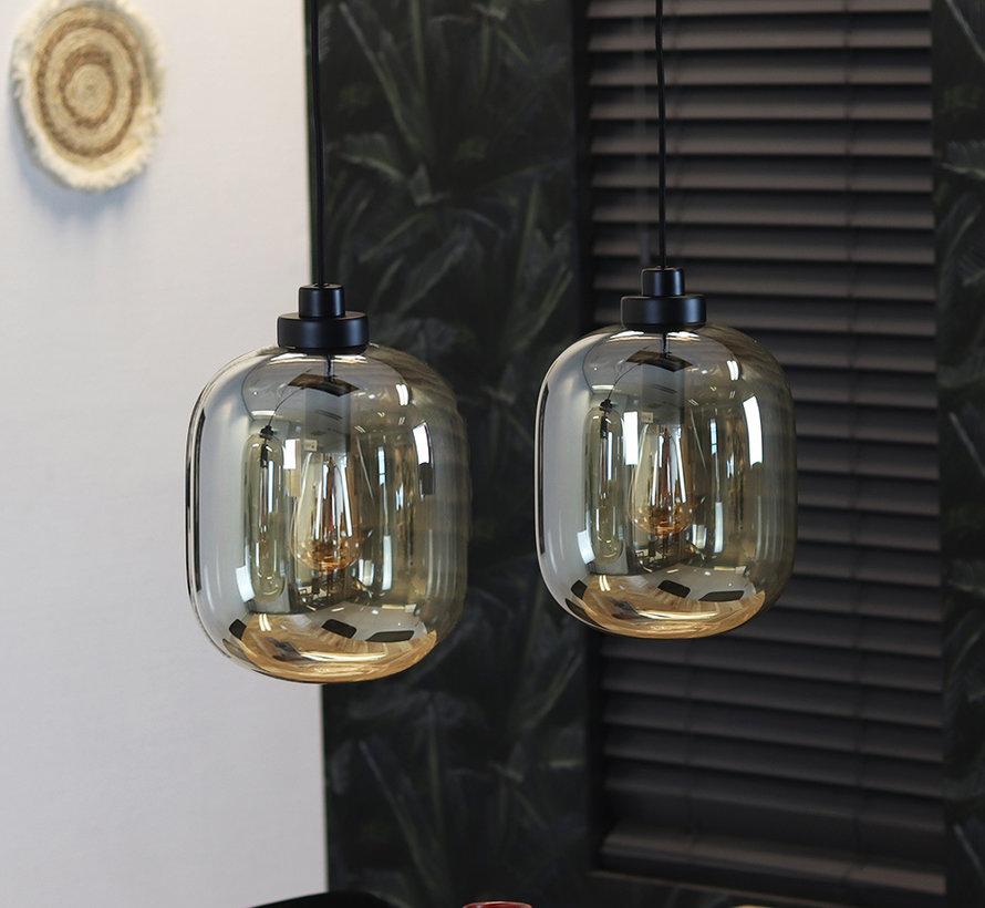Pendelleuchte Amber 2-flammig Glas 30cm