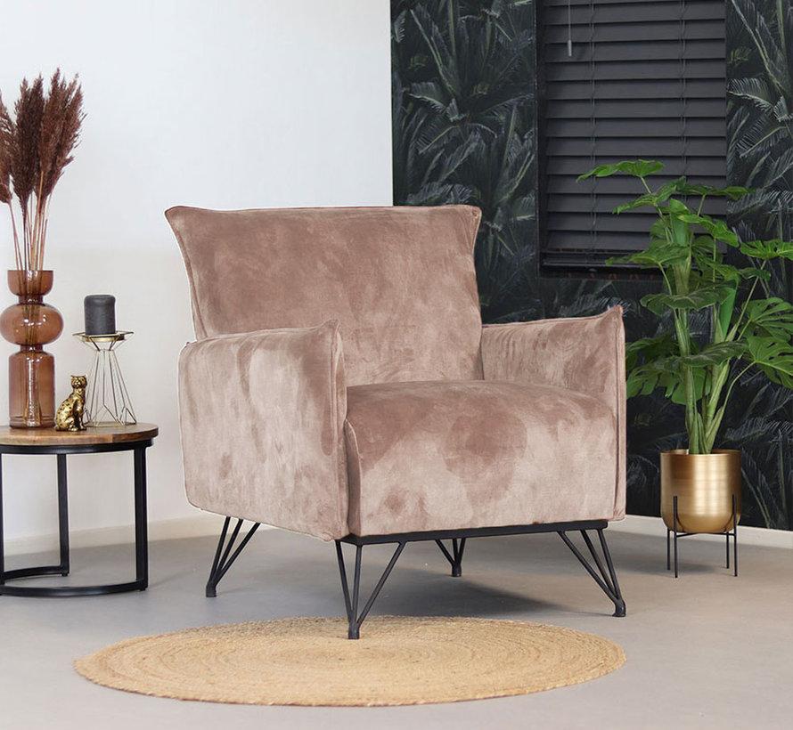 Lounge Sessel Mika Samt taupe