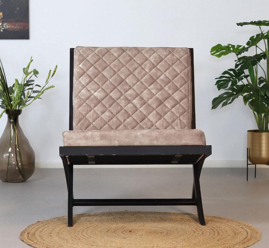 Luxury Design Sessel Madrid Samt taupe