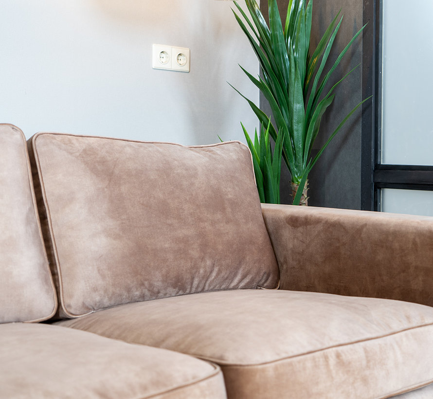 Samt Sofa 2-Sitzer Florida taupe