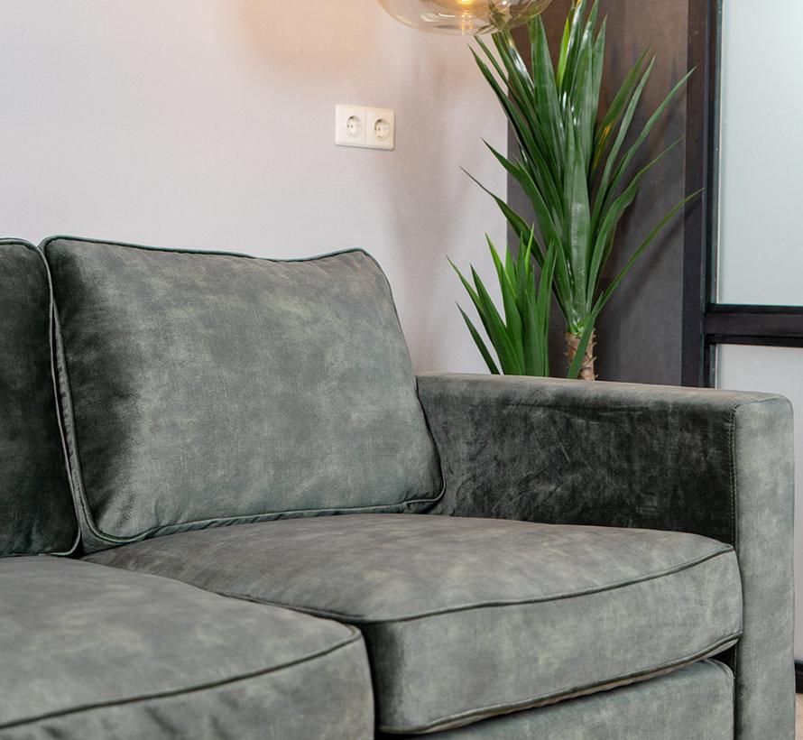 Samt Sofa 2-Sitzer Florida dunkelgrün