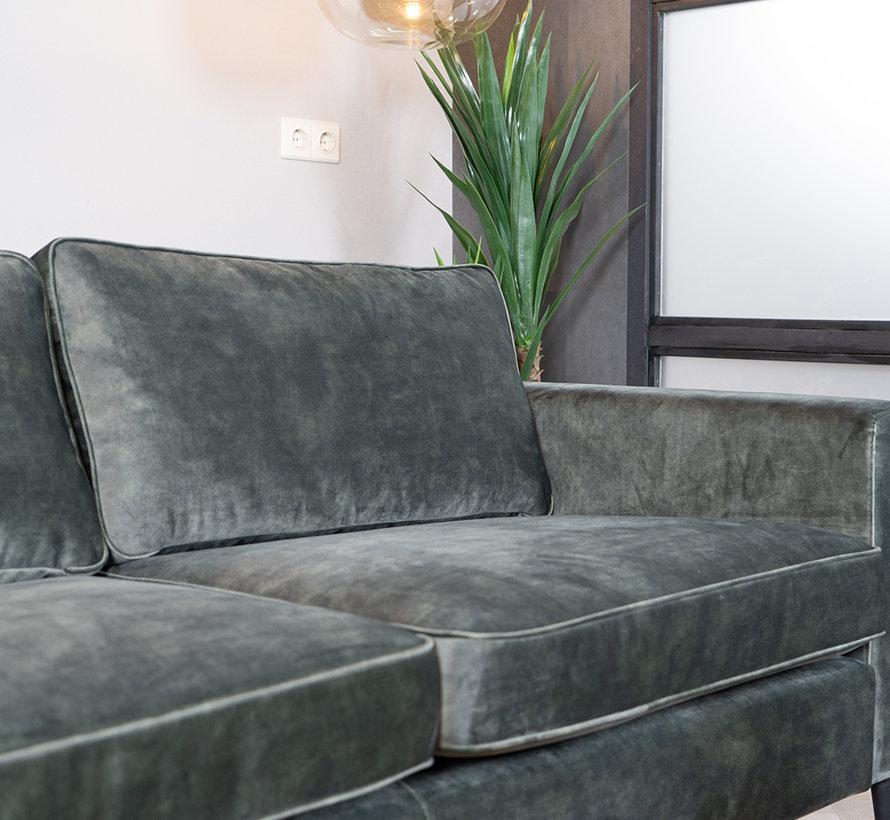 Samt Sofa 3-Sitzer Florida dunkelgrün