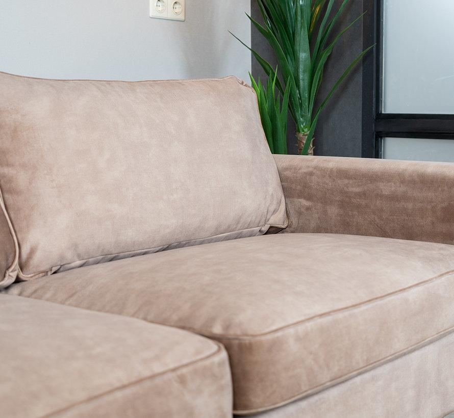 Samt Sofa 3-Sitzer Florida taupe