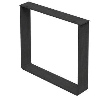 Tischgestell U-Form Medi Metall schwarz (2er Set)