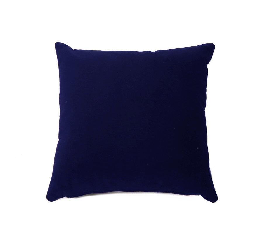Samt Kissen Anna dunkelblau 45x45 cm
