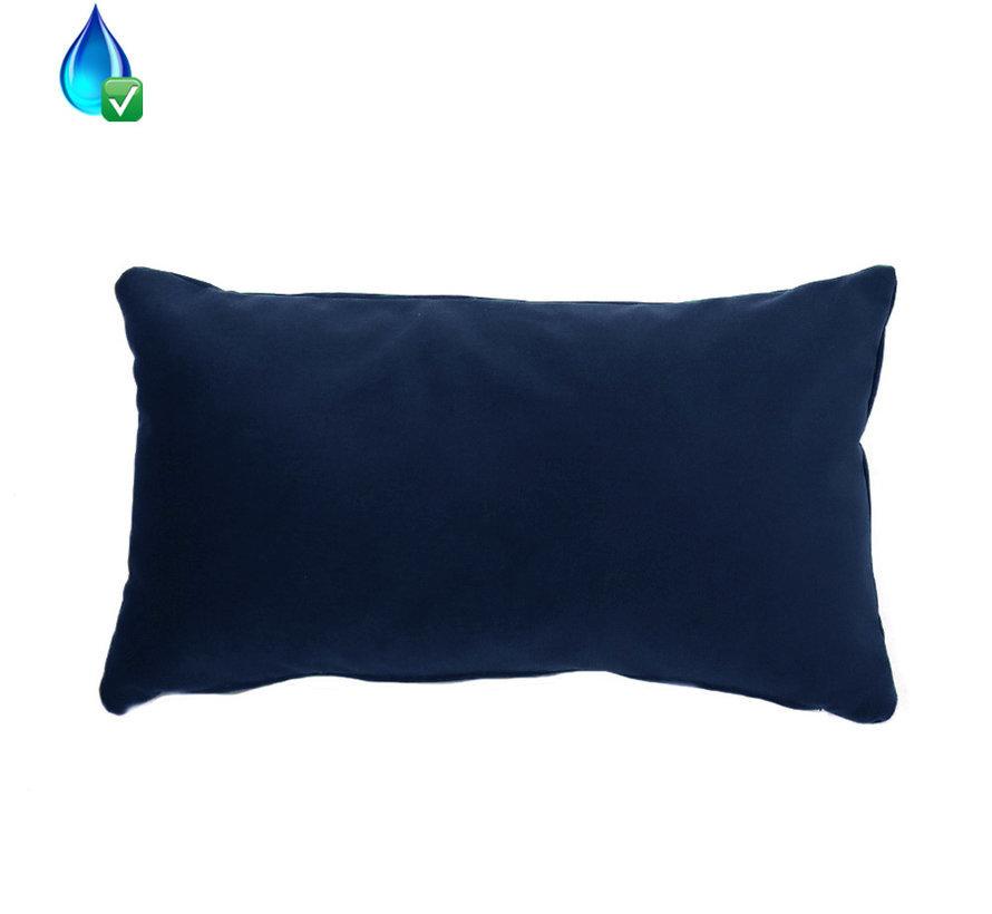 Samt Kissen Anna dunkelblau 25x45 cm
