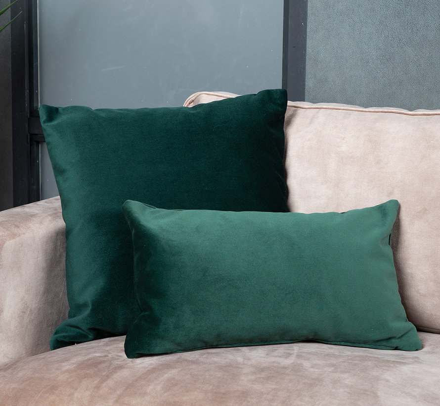 Samt Kissen Anna grün 25x45 cm