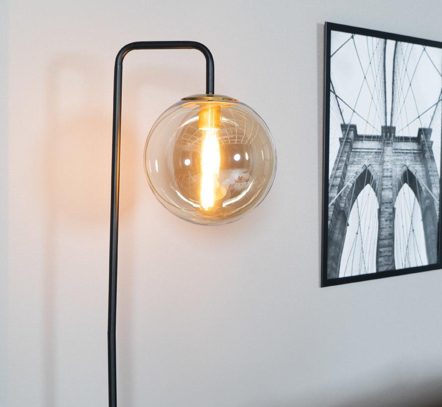 Stehlampe Ebba 1-flammig Amber