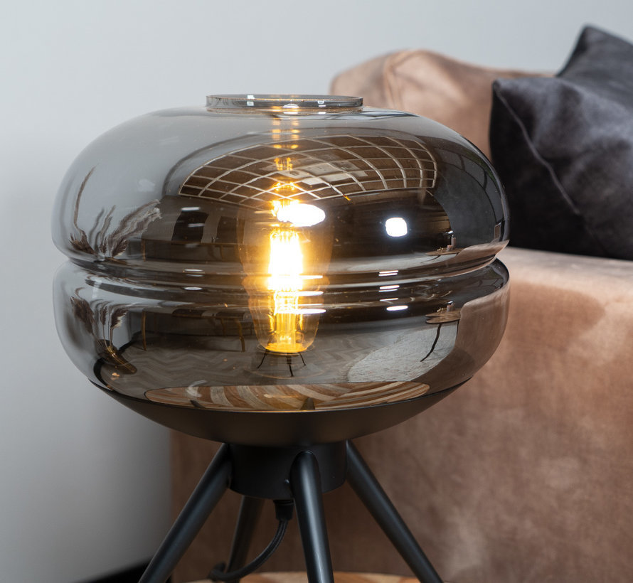 Tischlampe Jody 1-flammig Smoke