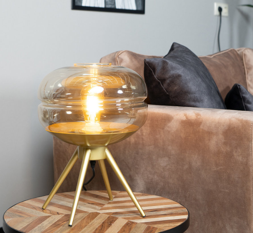 Tischlampe Jody 1-flammig Amber