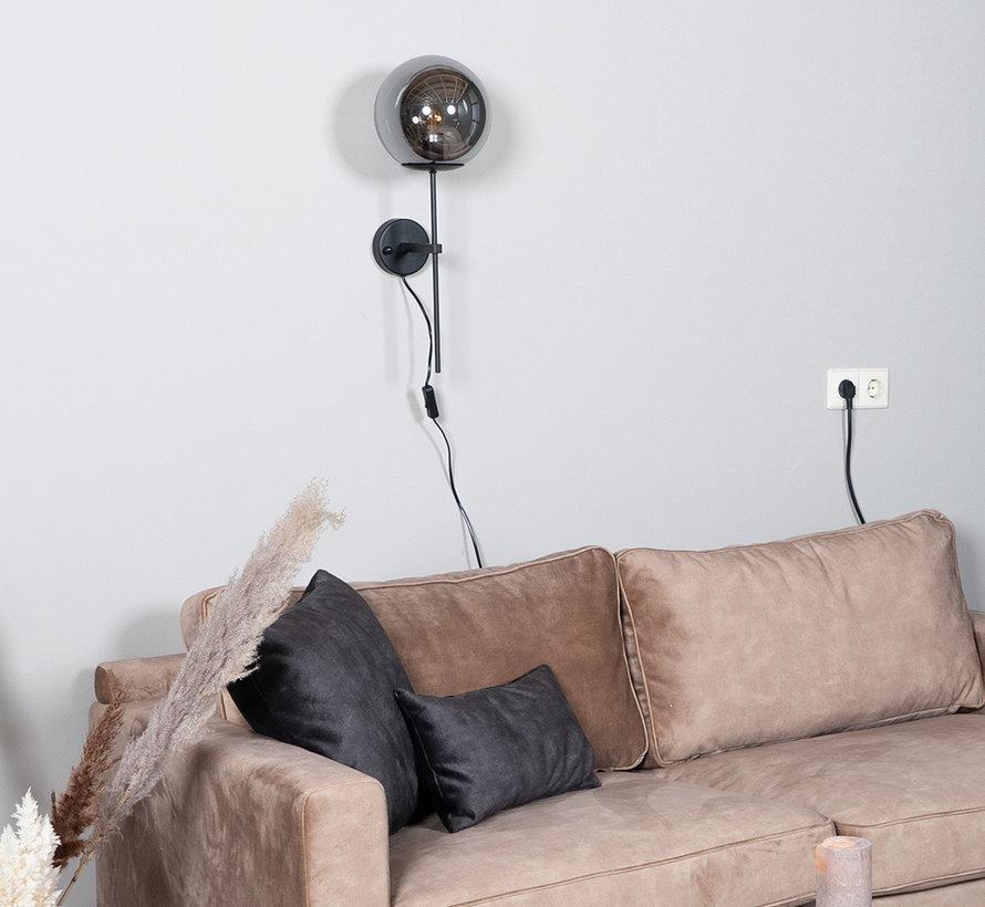 Wandlampe Vita 1-flammig Smoke