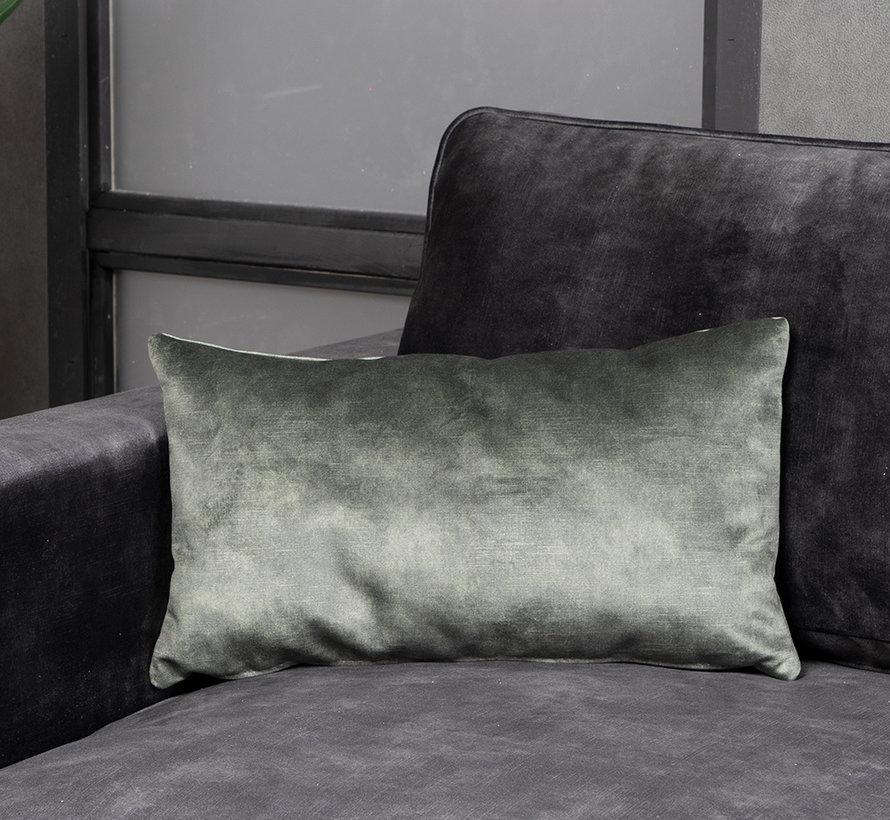 Samt Kissen Beau grün 25x45 cm