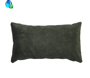 Bronx71 Samt Kissen Beau grün 25x45 cm