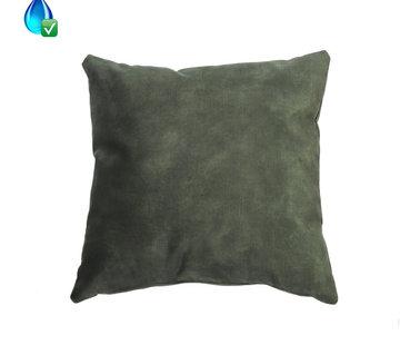Bronx71 Samt Kissen Beau grün 45x45 cm