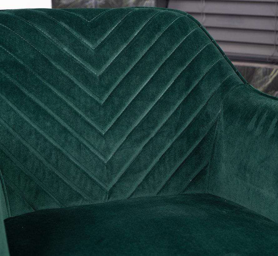 Esszimmerstuhl Fiona Samt grün