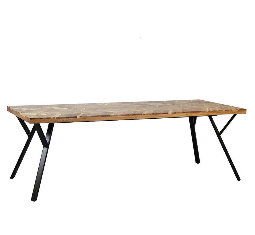 Esstisch Hunter Akazie Fischgrät-Design 230 x 100 cm