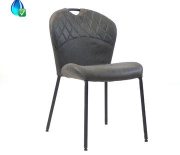 Stapelbarer Stuhl Fay Eco-Leder Anthrazit