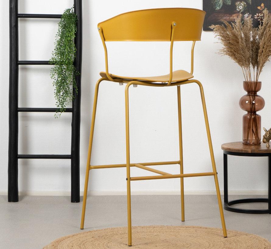 Gastro Barhocker Denver gelb skandinavisches Design 77cm