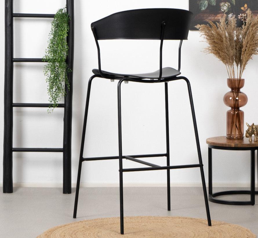 Gastro Barhocker Denver schwarz skandinavisches Design 77cm