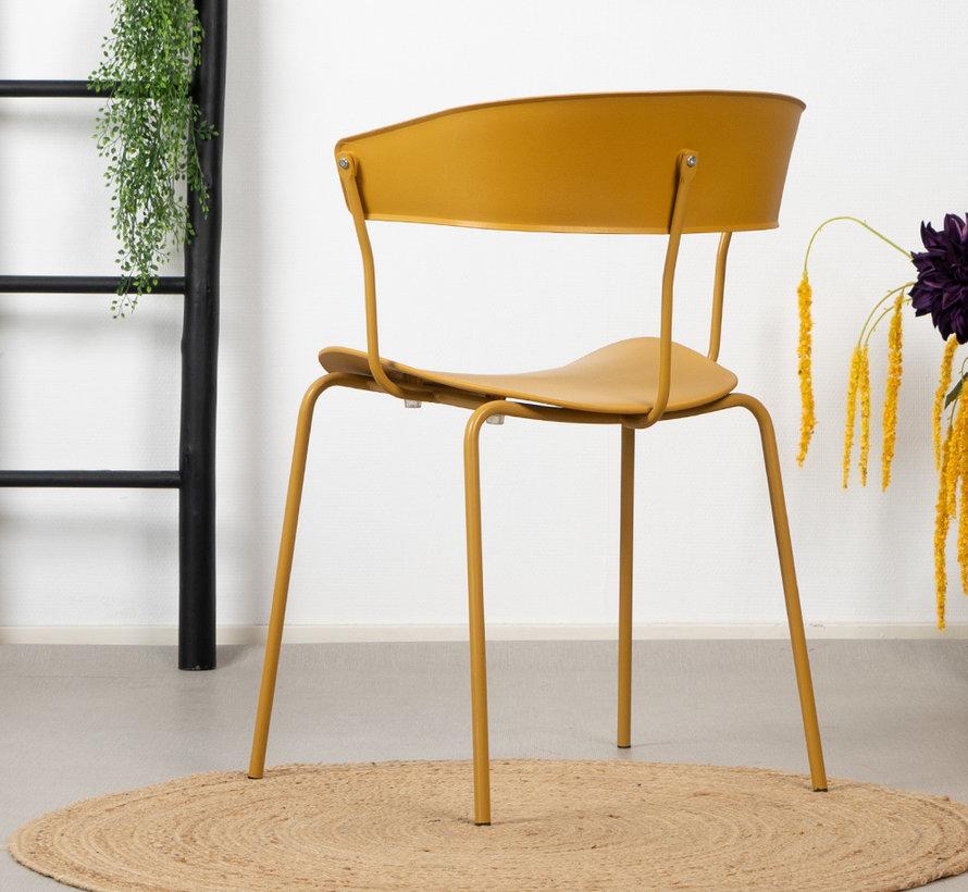 Gastro Stuhl Denver gelb skandinavisches Design