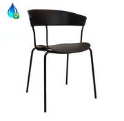 Gastro Stuhl Denver schwarz skandinavisches Design