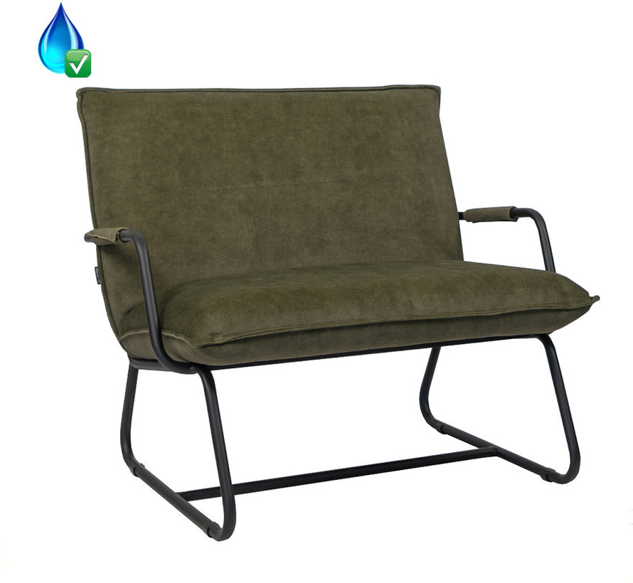 Samt Sessel Ohio mit Armlehne dunkelgrün