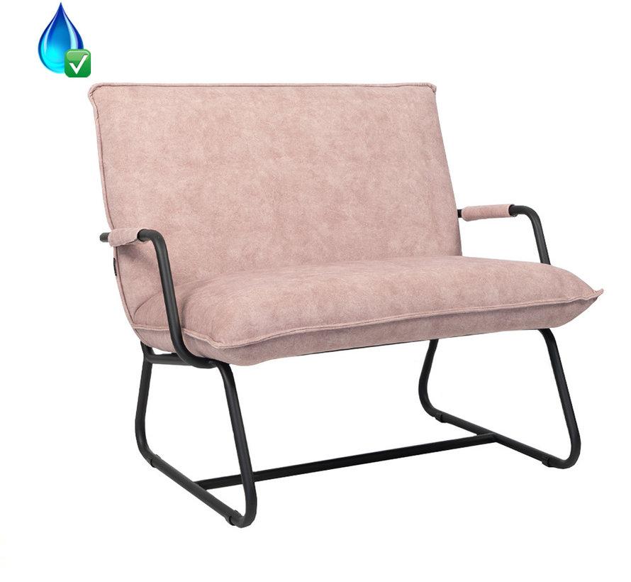 Samt Sessel Ohio mit Armlehne rosa
