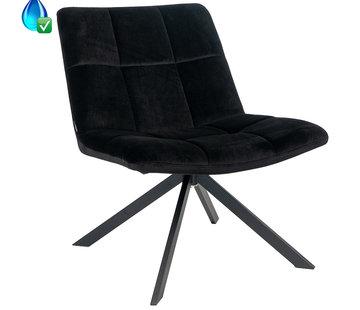 Bronx71 Samt Sessel Eevi schwarz drehbar