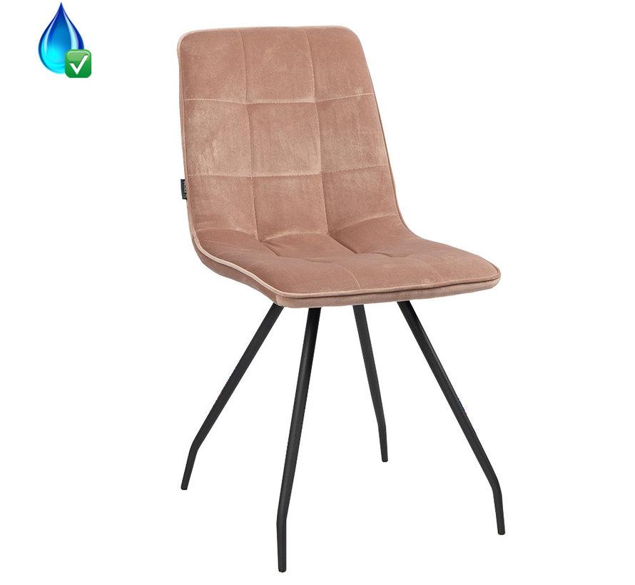 Gastro Stuhl Lisa Samt rosa