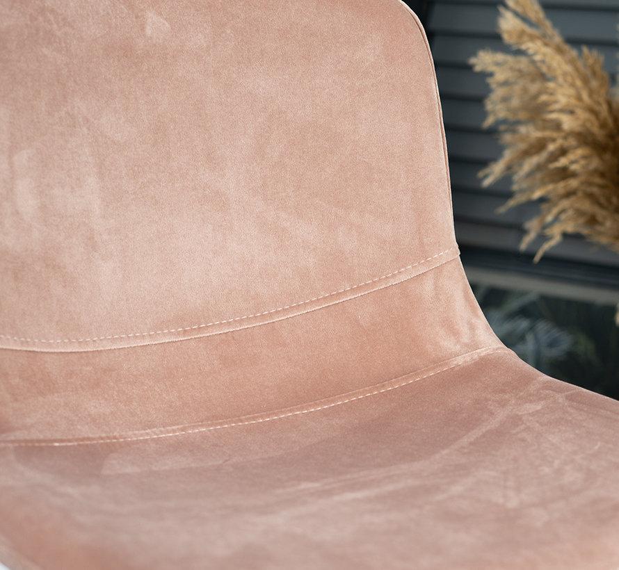 Gastro Barhocker Samt Mikky rosa 68-79 cm