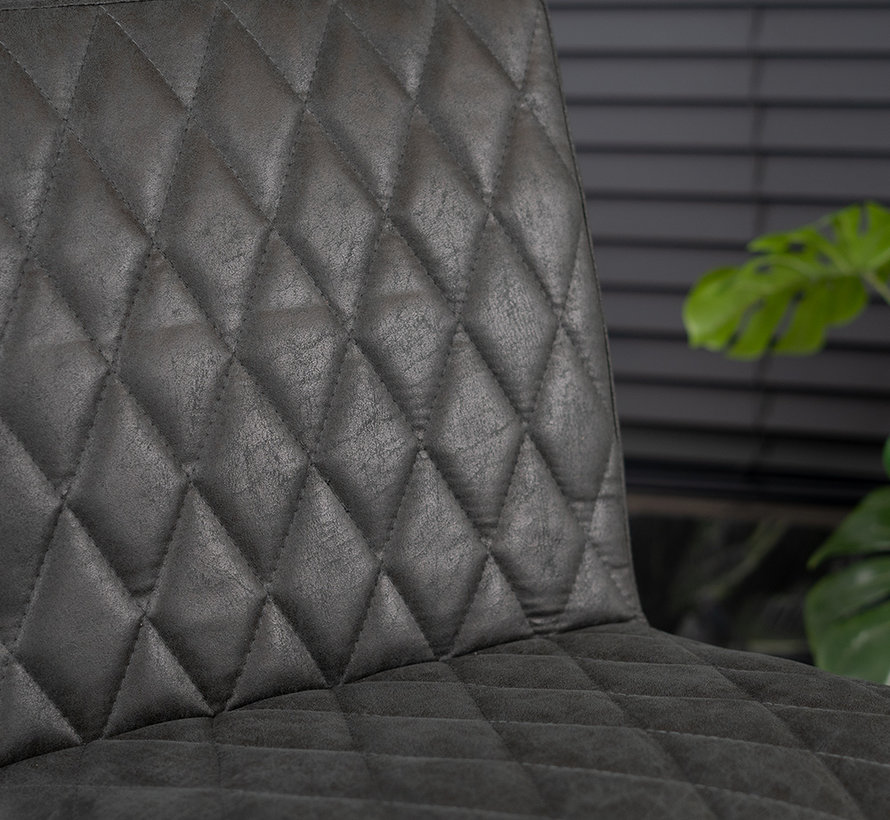 Gastro Barstuhl Diamond Eco-Leder schwarz 79 cm
