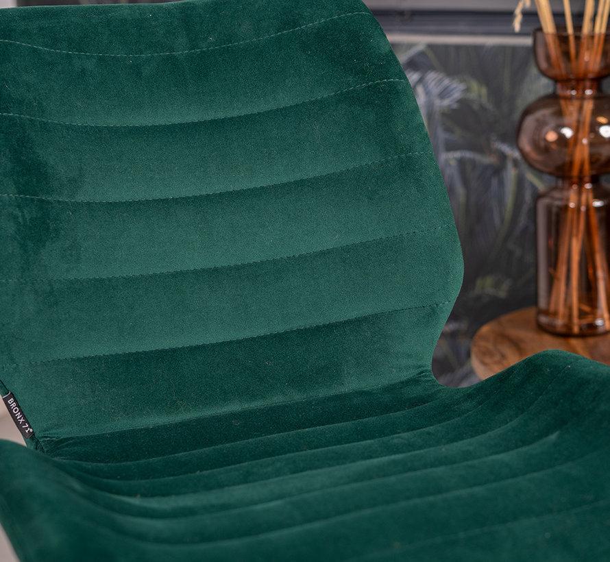 Gastro Stuhl Samt Toby dunkelgrün