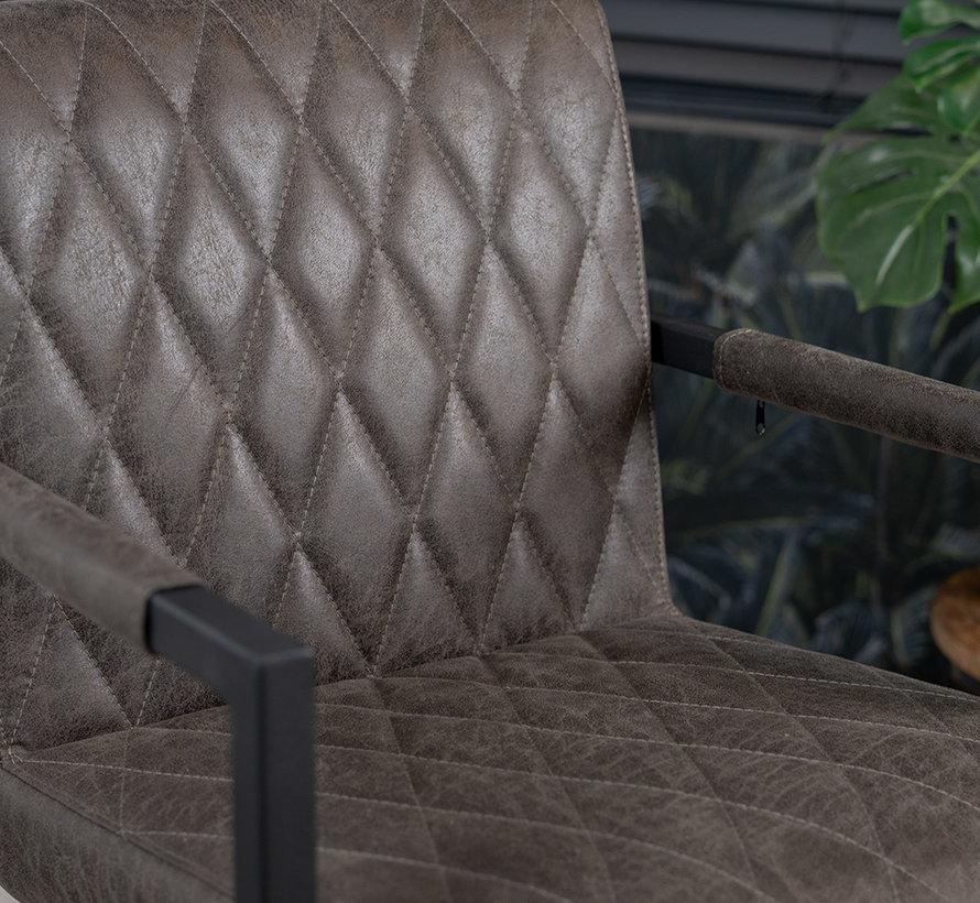 Stuhl Diamond mit Armlehne Eco-Leder anthrazit