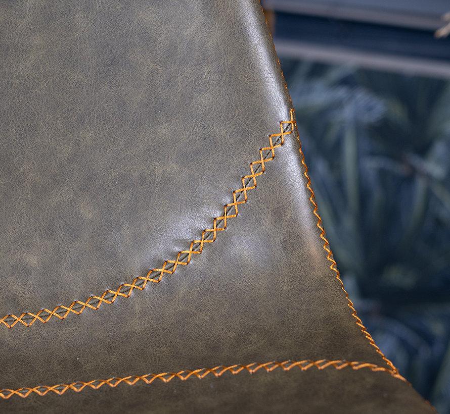 Barstuhl Leder Luke olivgrün 67 cm