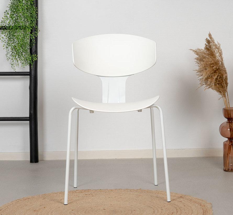 Gastrostuhl Mara skandinavisches Design Weiß