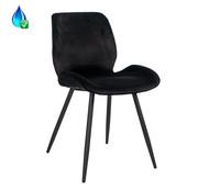 Gastro Stuhl Miami Samt schwarz