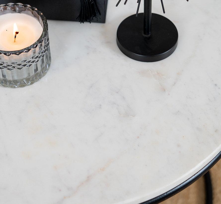 Loungetisch Set Mia Marmor weiß (2er Set)