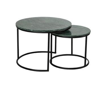 Loungetisch Set Mia Marmor grün (2er Set)