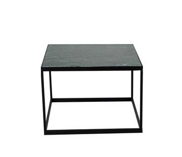 Loungetisch Max Marmor 54 x 54 cm grün