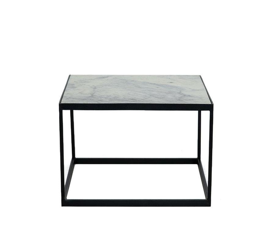 Loungetisch Max Marmor 54 x 54 cm weiß