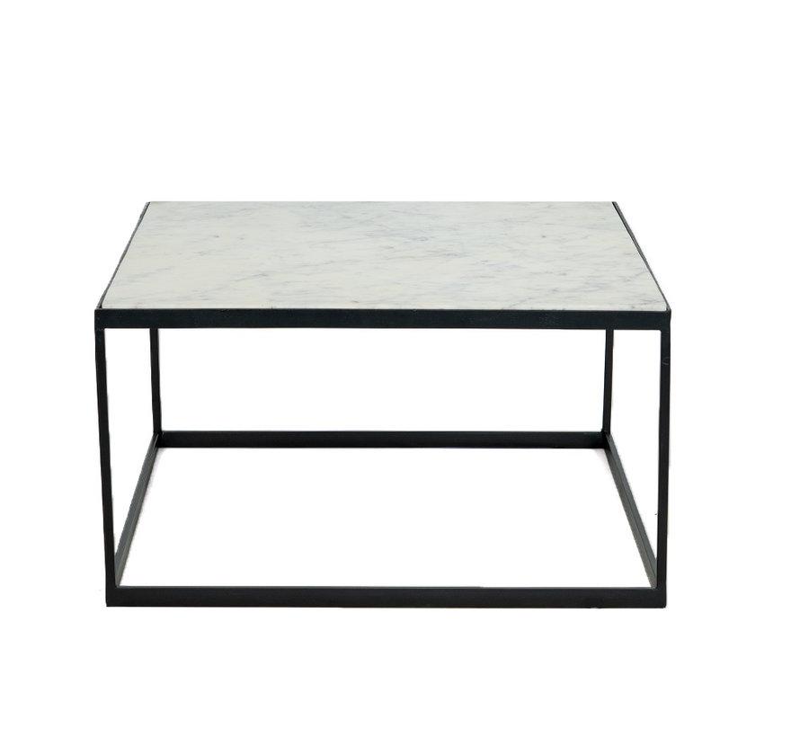 Loungetisch Rico Marmor 70 x 70 cm weiß