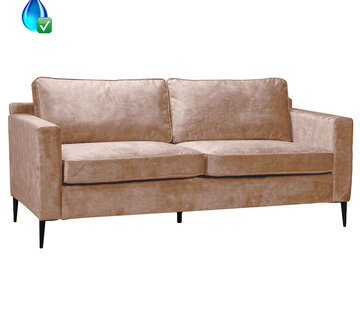 Bronx71 Samt Sofa 3-Sitzer Florida taupe