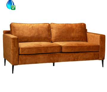 Bronx71 Samt Sofa 3-Sitzer Florida ockergelb/cognac