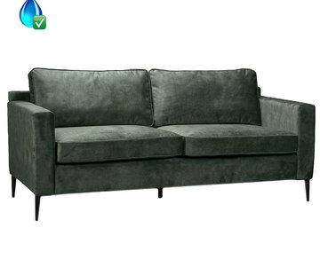 Bronx71 Samt Sofa 3-Sitzer Florida dunkelgrün