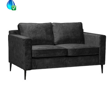 Bronx71 Samt Sofa 2-Sitzer Florida anthrazit